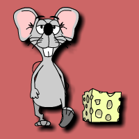 English: Help the mouse find the cheese.