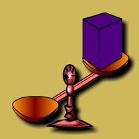 English: Weigh the Box using scale and weights