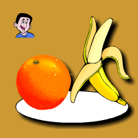 Une banane ou une orange ?