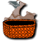 English: The Bird and the Basket illustrate prepositions
