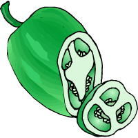 a green pepper