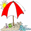 a beach umbrella