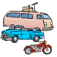 some vehicles