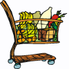 a grocery cart