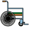 a wheelchair