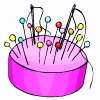 a pin cushion
